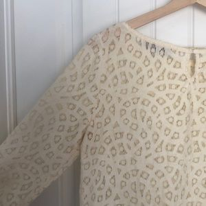 vintage-style, cream colored full lace top